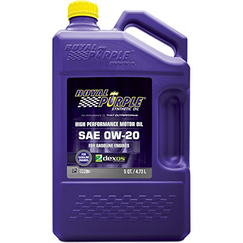 Royal Purple 51020 API-Licensed SAE 0W-20 High Performance Synthetic Motor Oil - 5 qt. (Royal Purple Motor Oil compare prices)