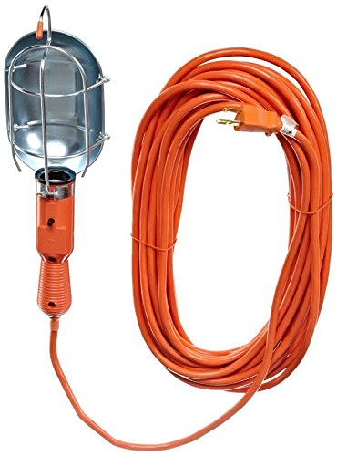 Luxrite LR61305 Work Light with Metal Guard, 25 FT Cord, Professional Quality, 120V/60Hz, 15 AMP, 75W Lamp, Grounded Polarized, 16AWG Cord, UL-Listed (Car Light Shield compare prices)