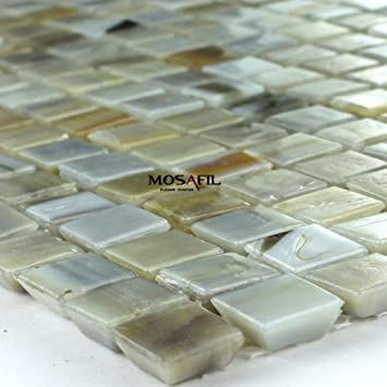 Glasmosaik Mosaik Fliesen Grau Beige Mix Durchgefärbt Xxmm - Mosaik fliesen grau mix