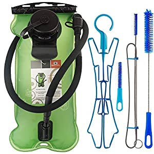 WACOOL 3L 3Liter 100oz BPA Free EVA Hydration Pack Bladder, Leak-proof Water Reservoir, include 4 in 1 Cleaning Kit