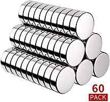 BUSATIA Neodym Magnete, 60 Stück Rund Magnets 10x3mm Mini Magneten für Magnettafel, Whiteboard, Magnetboard, Pinnwand...