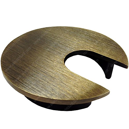 2'' Metal Desk Grommet - Color: Brushed Bronze - 100 Pieces by Electriduct