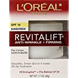 L'Oreal Paris RevitaLift Anti-Wrinkle + Firming Day Cream SPF 18, 1.7 Fluid Ounce (Pack of 2)
