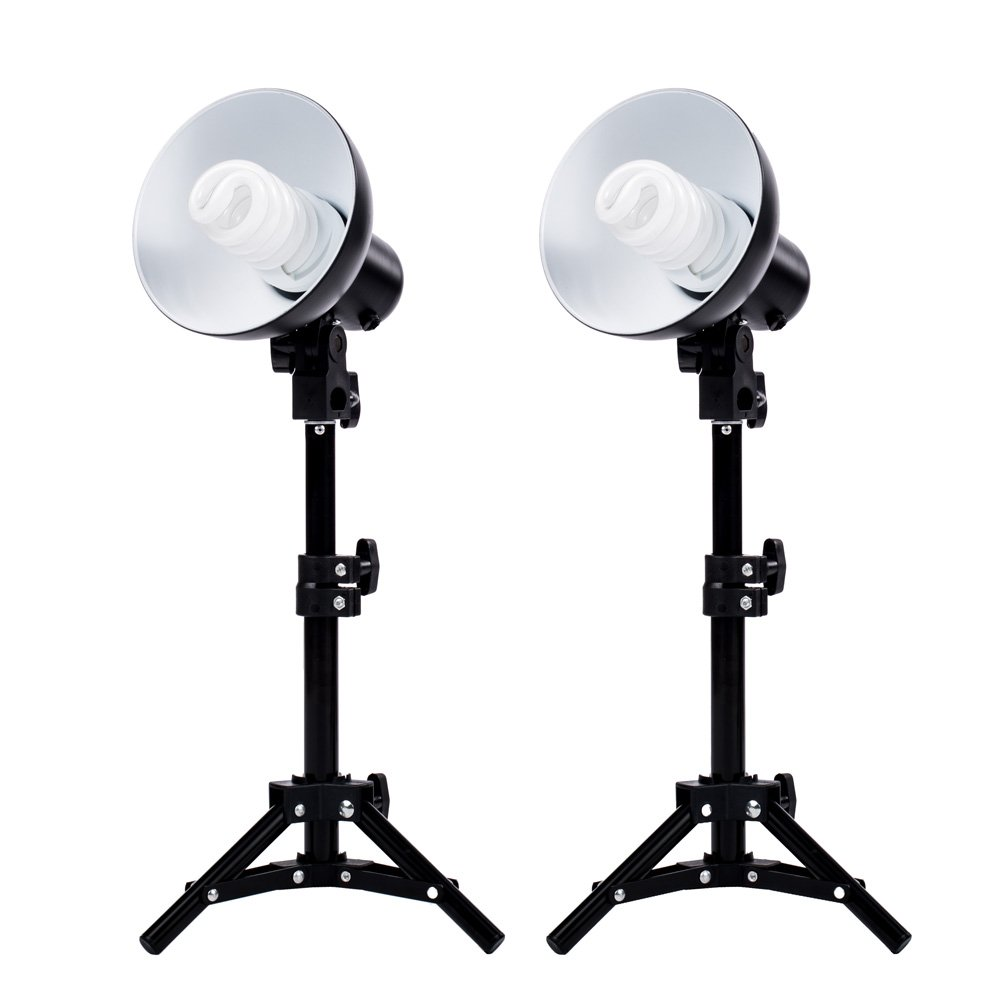 Amazon.com  Fovitec StudioPRO - 2x Product Photography Fluorescent L& Lighting Kit - [2x][CFL][L&s and Bulbs Included]  Camera u0026 Photo  sc 1 st  Amazon.com : photographer lighting kit - www.canuckmediamonitor.org