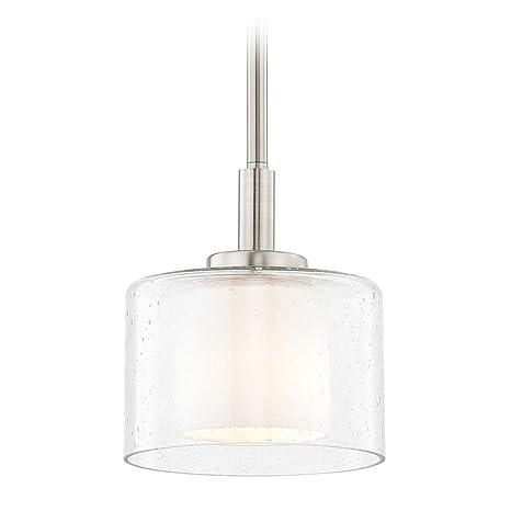size 40 9781f 1ed42 Seeded Glass Mini-Pendant Light Satin Nickel