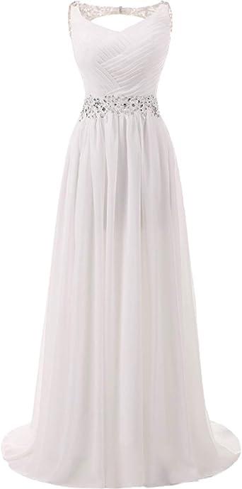 Amazon Com Chupeng Romantic Beach Wedding Dress A Line Empire Waist Maternity Gown Plus Size Clothing