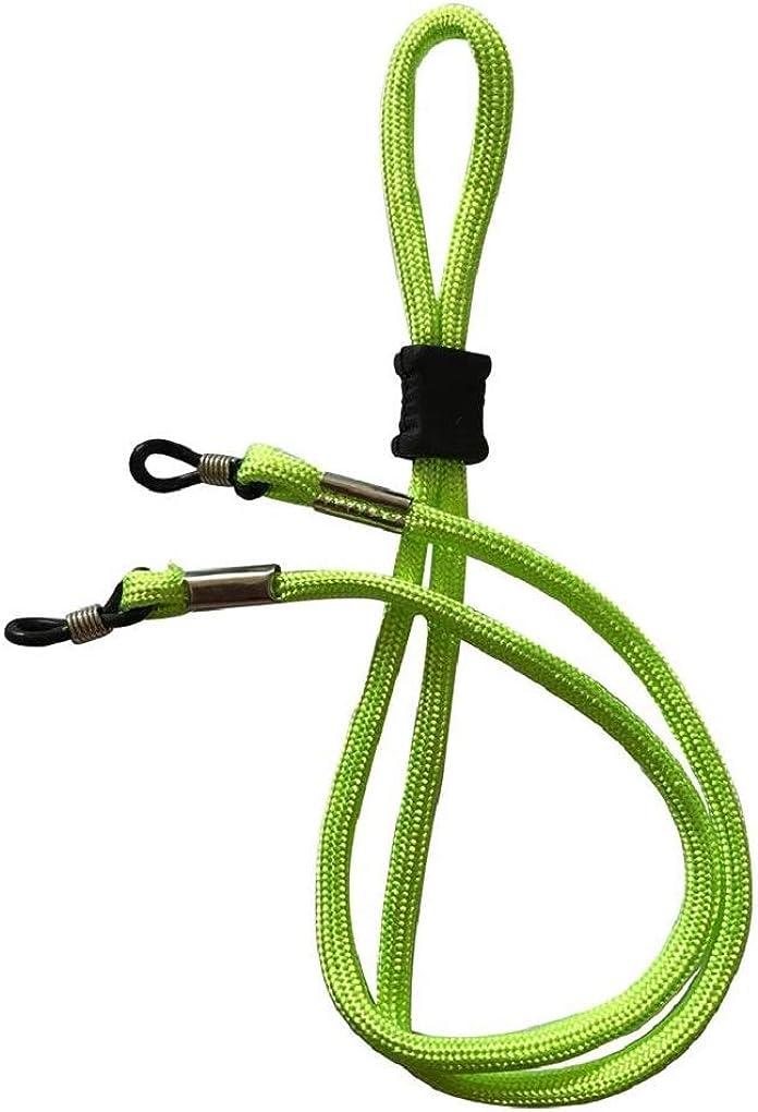 NEW Lime Green Adjustable Glasses//Sunglasses Sports Strap Cord Neck Holder