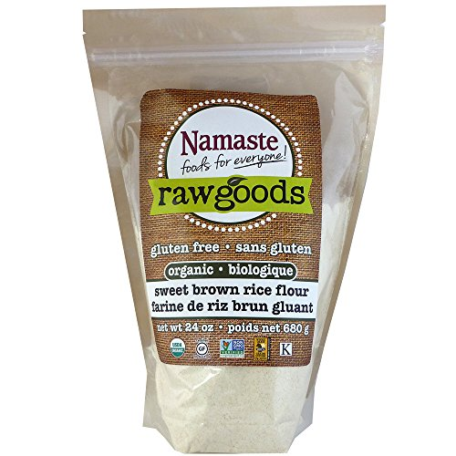 Namaste Foods Organic Sweet Brown Rice Flour, 24 Ounce (Pack of 6) by Namaste Foods
