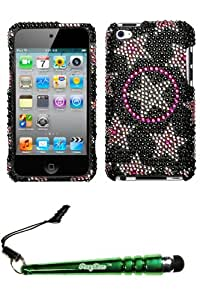 FoxyCase(TM) FREE stylus AND APPLE iPod touch (4th generation) Twinkle Full Diamond Bling Protector Cover cas couverture