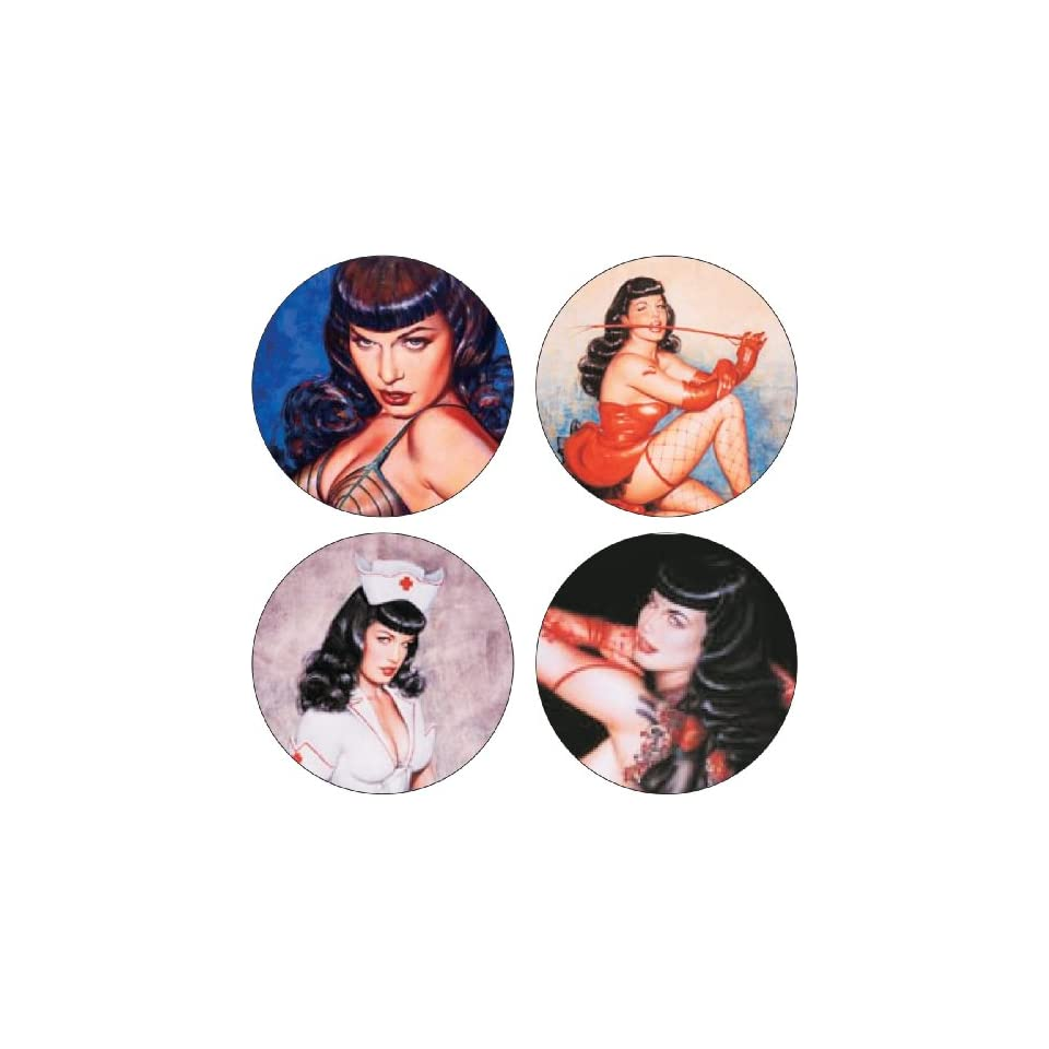 Olivias Bettie Page Coaster Set