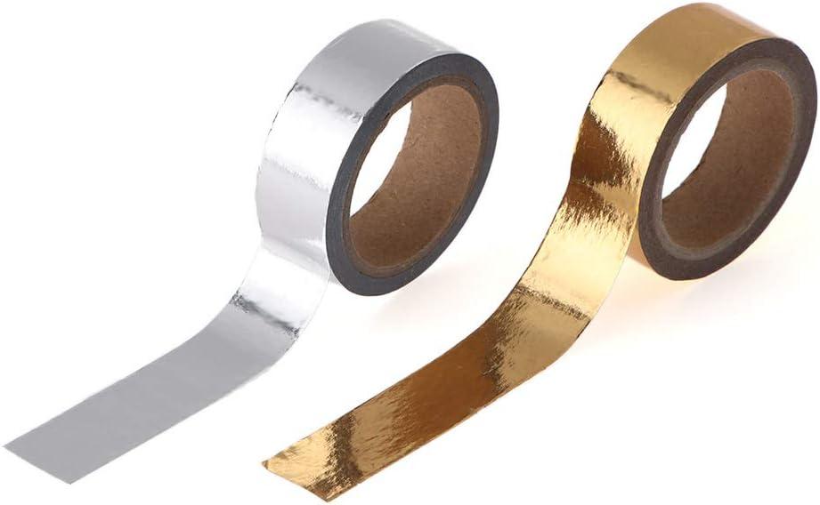 Journal Stationery Sticker Gold-und Silber-Klebeband Scrapbooking Sticky Papier Weihnachts Tagebuch Dekorative Band gold