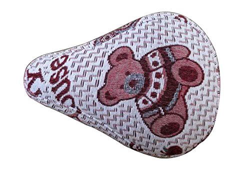Black Temptation Children's Bicycle Seat Cover Double Linen Seat Cover Bear by Black Temptation