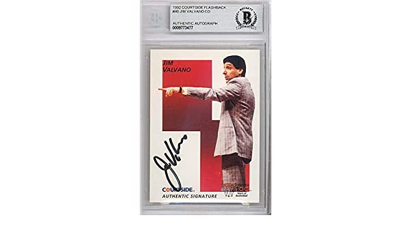 a68010ff Jim Valvano Autographed 1992 Courtside Card #40 N.C. State Wolfpack Beckett  BAS #9773477 - Beckett Authentication
