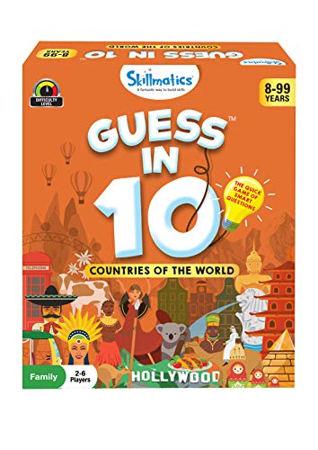 Skillmatics Guess in 10 Countries of The World - Card Game of Smart Questions for Kids & Families   Super Fun & General Knowledge for Family Game Night   Gifts for Kids (Ages 8-99)