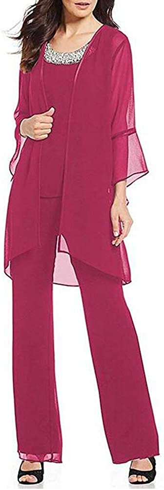 Women's Formal Mother of The Bride 3 Dress Pant Chi Free shipping anywhere in the nation Suits Pieces shopping