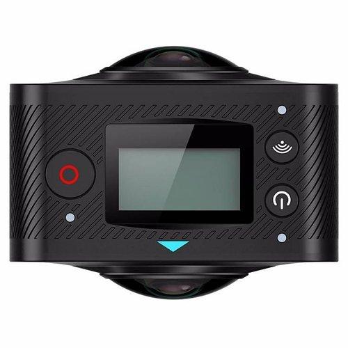 Zetronix 360° 360 Degree VR Camera with Dual Spherical Lens,Panoramic Wi-Fi Digital Camera Black Action Cameras Zetronix
