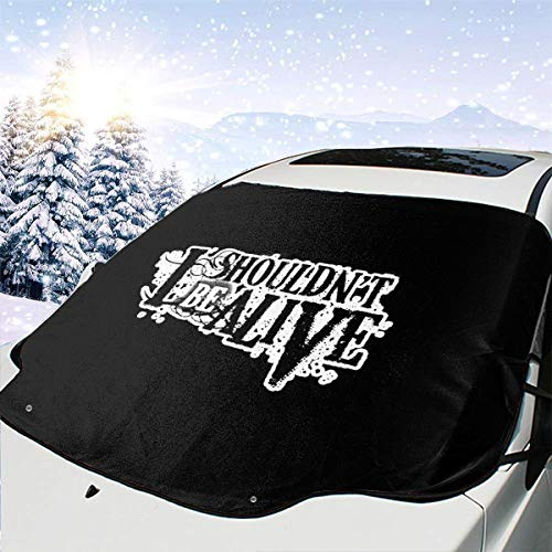 FengXiaoli I Shouldn't Be Alive Snow Cover for Car Windshield - Auto UV Protector Cover Shields Windshield Snow Shades
