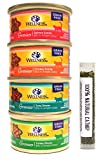 wellness minced cat food - Wellness Natural Grain Free Wet Canned Cat Food Gravies Variety Pack, 4 Flavors, 3-Ounces Each (12 Total Cans)
