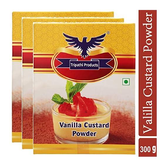 TRIPATHI PRODUCTS Vanilla Custard Powder (3 x 100 Grams)