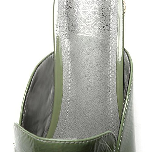 Rugueux EU39 Vert UK6 Chaussures CN39 Taille Sandales Femme Vert MUMA Couleur Vert Talon Escarpin avec des Moyen Abricot qBtH6pw