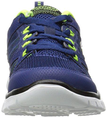 skechers FLEX ADVANTAGE - Zapatillas de deporte para niño, Azul (Azul (NVYL)), 34