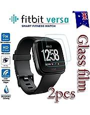 [2-Pack] Fitbit Versa/Versa Lite Tempred Glass LCD Screen Protector Film Guard for Fitbit Versa Smart Watch