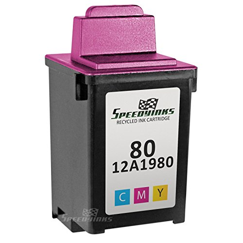 Speedy Inks - Lexmark Remanufactured 12A1980 #80 Color Ink Cartridge for use in Lexmark Z11, Z31, Optra Color 40, Optra Color 45, Optra Color 45n, Lexmark Jetprinter 3200, 5000, 5700, 5770, 7000v