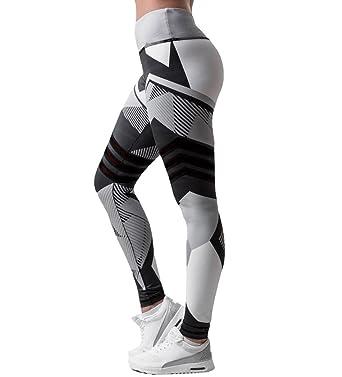 782738441c5fc Yogogo Damen 3/4 Yoga Leggings Hose Mittlere Taille Pants | Dünne Hosen |  Mesh Muster Print Fitness Leggings | Sport Fitness Workout Leggins | ...