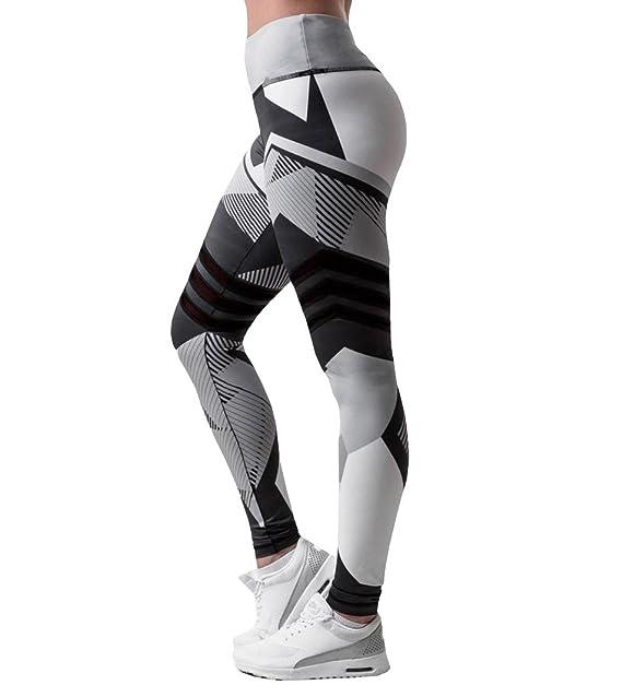 Yogogo Damen 3 4 Yoga Leggings Hose Mittlere Taille Pants   Dünne Hosen    Mesh Muster Print Fitness Leggings   Sport Fitness Workout Leggins    Elastische ... 17de070cee