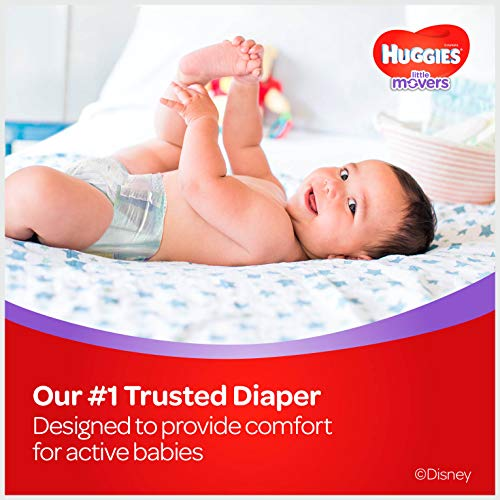 Large Product Image of HUGGIES LITTLE MOVERS Active Baby Diapers, Size 6 (fits 35+ lb.), 104 Ct, ECONOMY PLUS (Packaging May Vary)