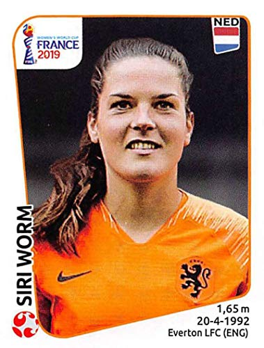2019 Panini FIFA Women's World Cup France Sticker #392 Siri Worm Netherlands Mini (Small) Sticker Trading Card ()