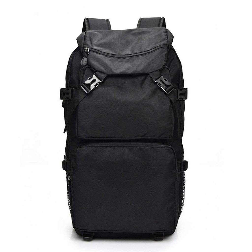 Black 50L Outdoor Travel Mountaineering Bag, Large Capacity Lightweight Waterproof Backpack Casual Student Bag Unisex (color   Black)