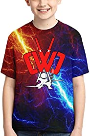 PAJACC Preston Fire Nation Playz Gamer Flame Boys 3D Print Short Sleeve T-Shirt Casual Soft Tee for Kids//Youth