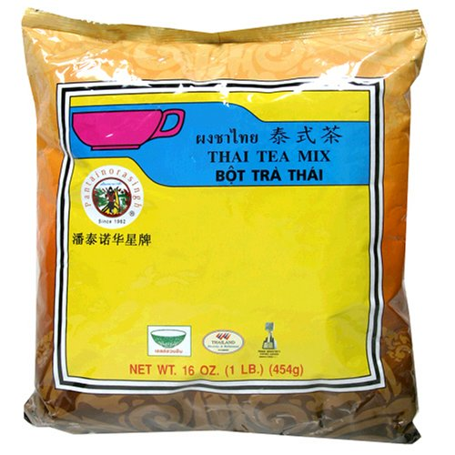 Pantainorasingh Thai Tea Mix, 16-Ounce Bag (Pack of 5) by Pantai