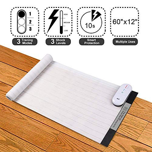 """Pet Shock Mat - 60""""x12"""" Pet Training Mat for Cats & Dogs, 3 Training Modes Pet Shock Pad, Indoor Use Dogs & Cats Training Mat for Sofa w/ LED Indicator, Intelligent Safety Protect, Long Battery Life by DOG CARE"""