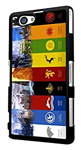 448 - Game Of throne Symbol Houses Sigils Emblems Design For Sony Xperia Z4 Compact Fashion Trend CASE Back COVER Plastic&Thin Metal