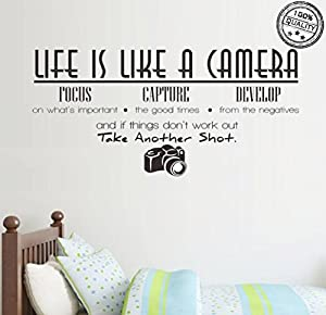 Amazoncom Wall Stickers Life Is Like A Camera Vinyl Wall - Wall decals carscars wall decals add photo gallery car wall decals home design ideas