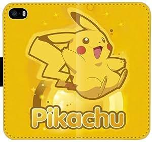 Pikachu B9C8W Funda iPhone 6 6S Plus 5.5 caja de la carpeta de cuero funda Griffin 36p3UL teléfono celular fundas caso del tirón