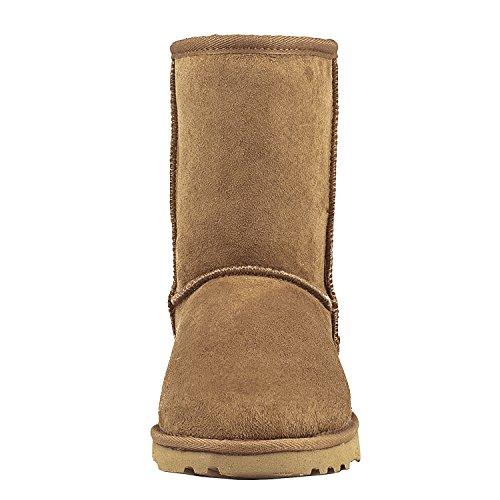 de Nieve con Shenduo DV5825 para Botas Antideslizantes Interno Lana Mujer Zapatos Castaña clásicos de Piel Invierno fgB1w4