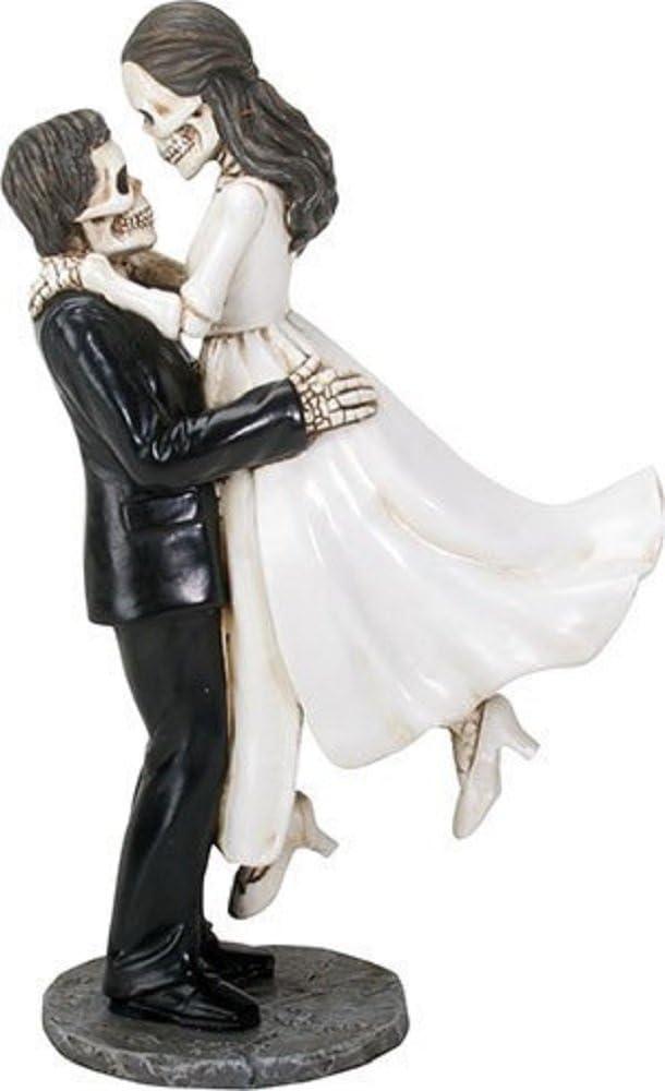 Love Never Dies Wedding Cake Topper Skeleton Bride-Groom-Halloween Figurine