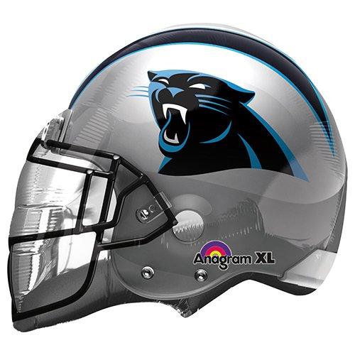 "Anagram 26292 NFL Carolina Panthers Football Helmet Foil Balloon, 21"", Multicolored"