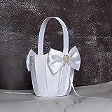 ATAILOVE 2 Pcs Flower Girl Basket Set- Cute Cherish Wedding Flower Baskets