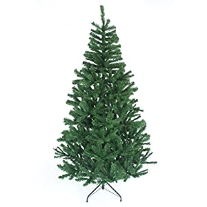 Shatchi 1.2m Christmas Tree Green 230 Pines Artificial Tree with Metal Stand 2