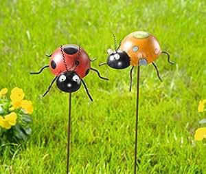 2metal Pegatinas de flores Conector de metal mariquitas Conector Bancal Conector Jardín