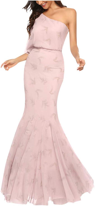 Sloater Rosa Kleid Asymmetrisches Kleid Damen Frauen Hochzeit
