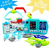 SUPER DEAL - Toy Doctor Kit for Kids & Toddlers, X-Ray Machine, Lights and Sounds, Premium 20 Piece Set with Carry Case