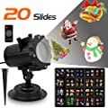 Led Projector Lights with 20 Slides Pattern Dynamic Lighting Landscape Led Projector Light Show for Party, Birthday, Holiday Decoration, Waterproof LED Spotlight