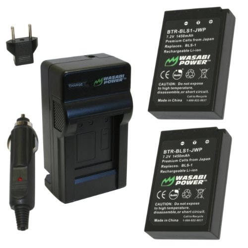 Wasabi Power Battery and Charger Kit for Olympus BLS-1, PS-BLS1, E-420, E-450, E-600, E-620, PEN E-P1, E-P2, E-P3, E-PL1, E-PL3, E-PM1