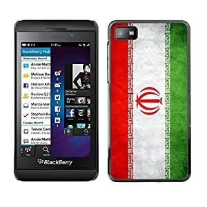 Shell-Star ( National Flag Series-Iran ) Snap On Hard Protective Case For BackBerry Z10