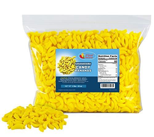 Bananarama Candy - Bulk Candy - Banana Candy - Yellow Candy - 2 LB Party Bag, Family Size